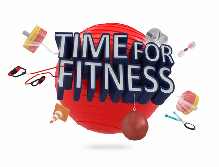 exercise equipment: Time For Fitness Concept