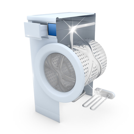 limescale: Washing machine clean concept - 3D Render