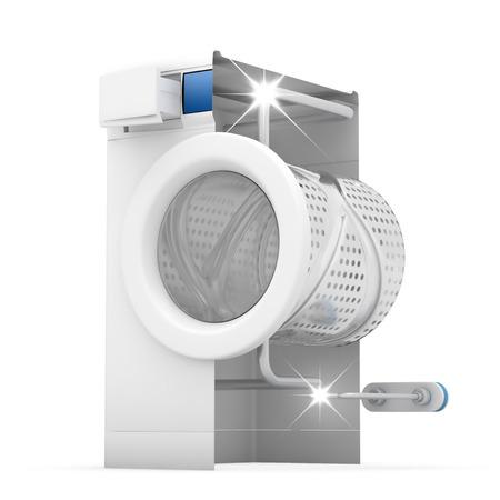 Washing machine clean concept - 3D Render