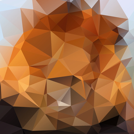 rumpled: Brown abstract geometric rumpled triangular low poly style illustration graphic background.