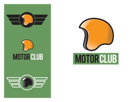 art logo: Logo design element helmet - Motor Club