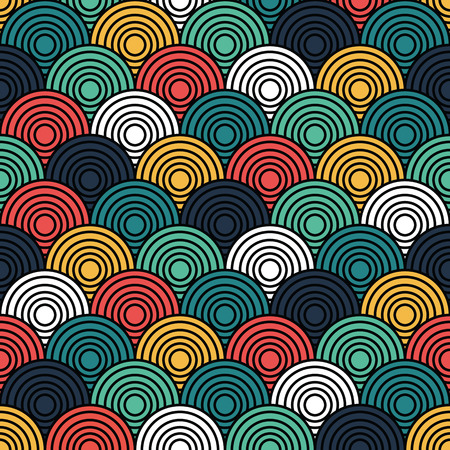 eyestrain: Overlap Circle Pattern. Editable Vector. Stock Photo