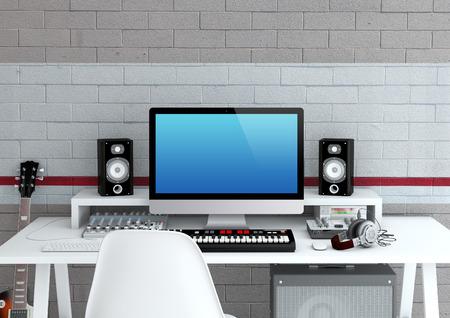 Home Recording Studio - Interior 3D Rendering