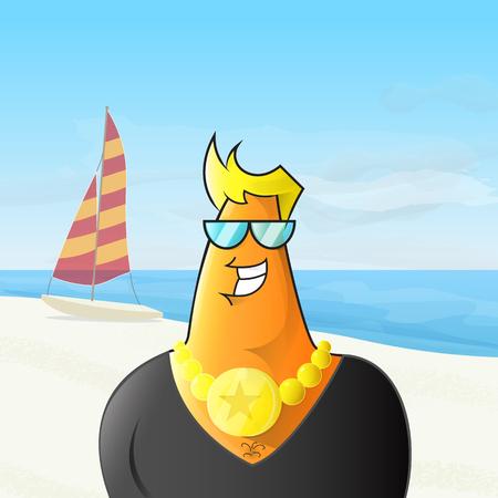 poser: Chav on the beach.