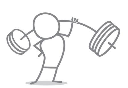 salud y deporte: atleta del Doodle con la barra.