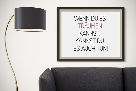 motivating: Inspirational motivating quote on picture frame.