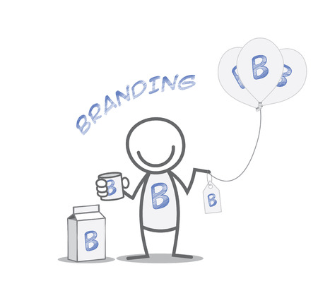 BRANDED: Branding identity concept - Doodle man with branded products