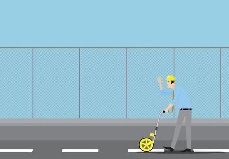 topógrafo: distancia de medición del topógrafo con la rueda de topógrafos.