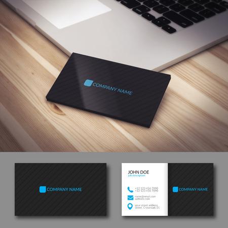 elegant template: Illustration Abstract Elegant Business Card Template.