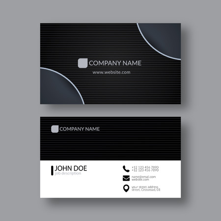 business card template: Abstract Elegant Business Card Template. Illustration