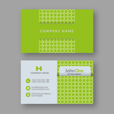 namecard: Abstract Modern Business Card Template. Vector Illustration.