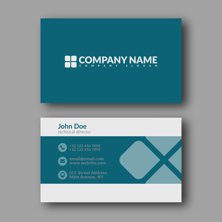 card: Business Card Template. Vector Illustration.