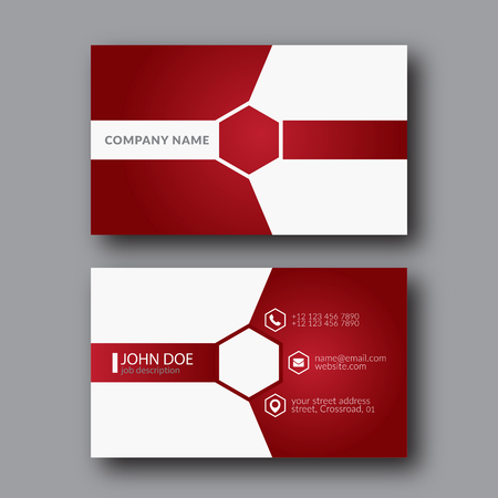 Illustration Abstract Elegant Business Card Template.