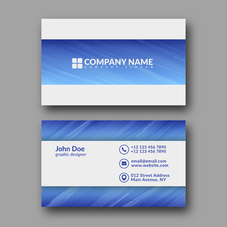 modern business: Abstract Modern Business Card Template. Illustration
