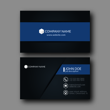 namecard: Vector Illustration Abstract Elegant Business Card Template.