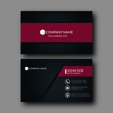 business card template: Vector Illustration Abstract Elegant Business Card Template.