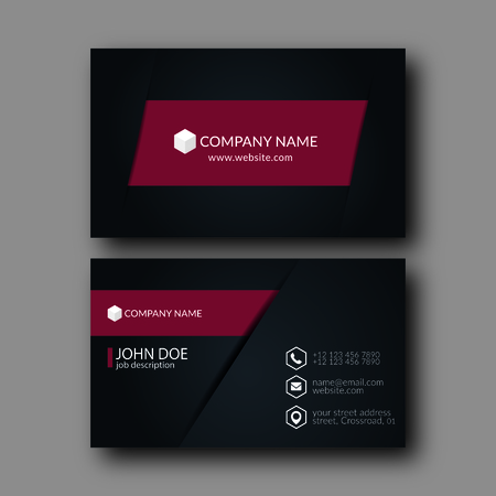 business card template: Eps10 Vector Illustration Abstract Elegant Business Card Template.