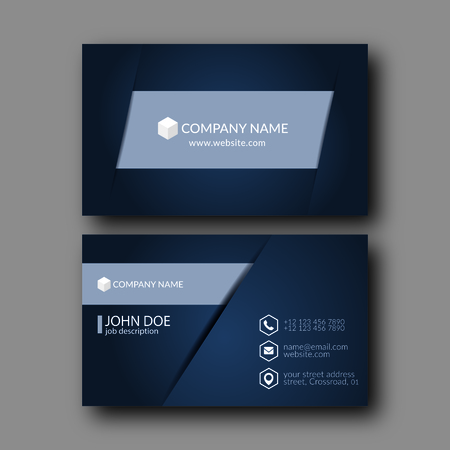 black and silver: Eps10 Vector Illustration Abstract Elegant Business Card Template.