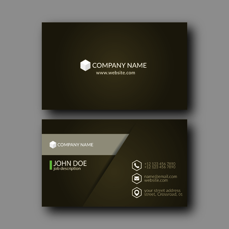 modern frame: Vector Illustration Abstract Elegant Business Card Template.