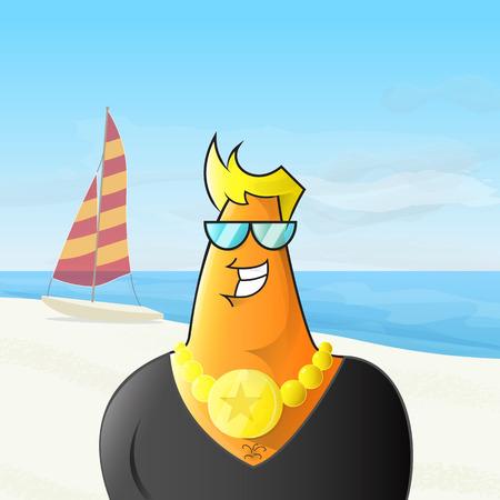 Chav sulla spiaggia.