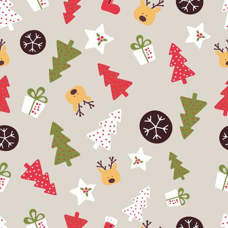 christmas seamless pattern: Vector Seamless Christmas Pattern