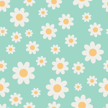 daisy vector: Vector Seamless Daisy Pattern