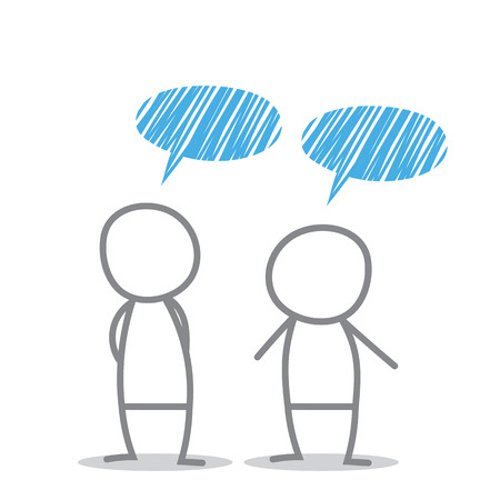 discuss: Men discuss in different situations.