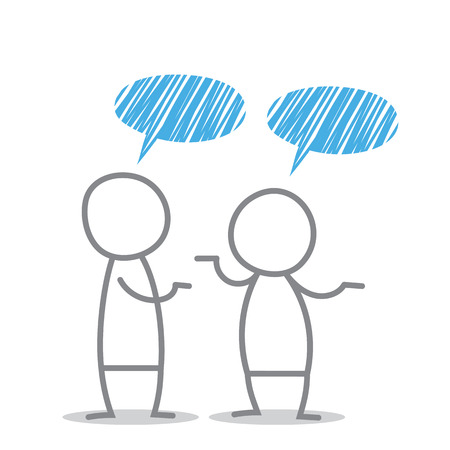 garabatos: Los hombres discuten en diferentes situaciones.