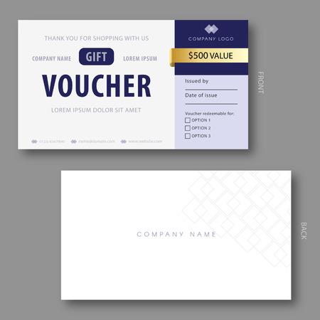 elegant template: Elegant Gift Voucher Template With Golden Elements.