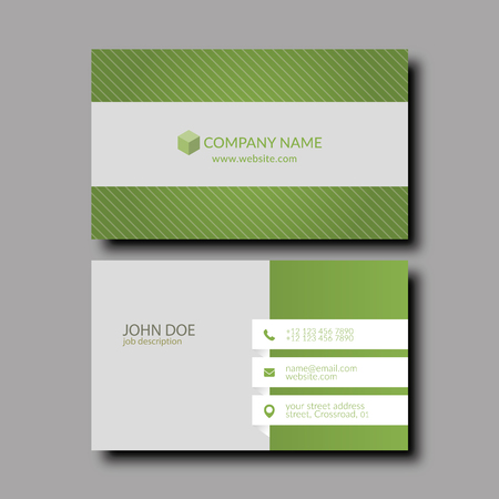 Vector Illustration Abstract Elegant Business Card Template Royalty