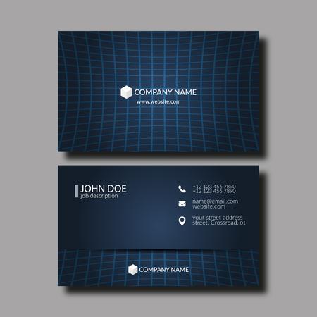 Ilustración del vector tarjeta de visita elegante abstracto.