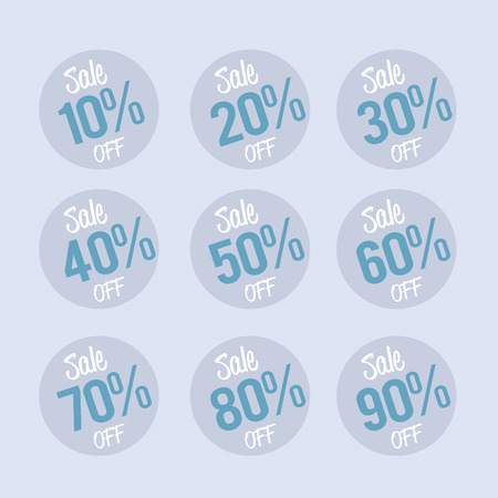 label tag: Percent OFF Discount Label Tag - Flat style graphic illustration Illustration