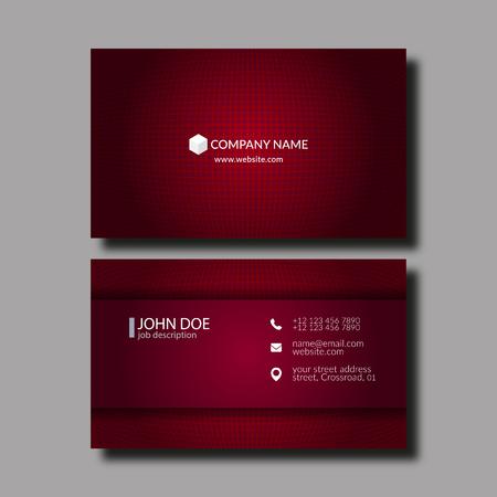 elegant template: Vector Illustration Abstract Elegant Business Card Template.