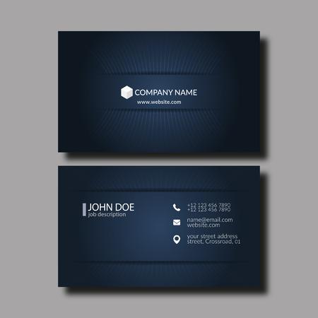 Vector Illustration Abstract Elegant Business Card Template. Vektorové ilustrace