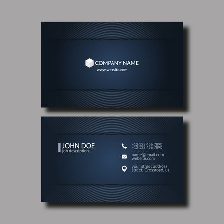 business symbols: Eps10 Vector Illustration Abstract Elegant Business Card Template.