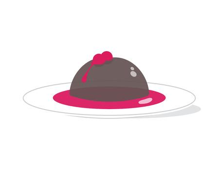 Healthy Chocolate Raspberry Pudding