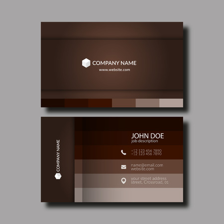 Vector Illustration Abstract Elegant Business Card Template.