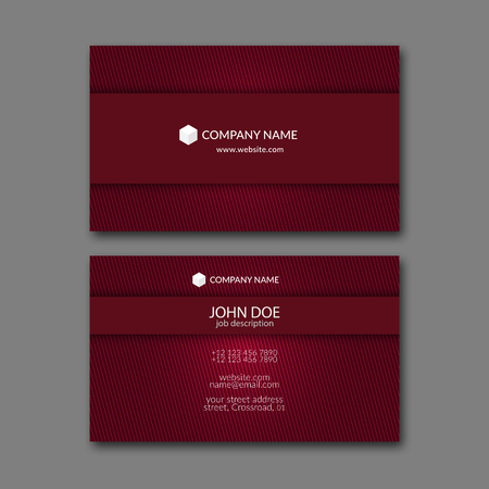 design template: Elegant business card design template for creative design.