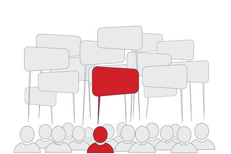 teammates: Opinion Leader - Business Men Icons Illustration