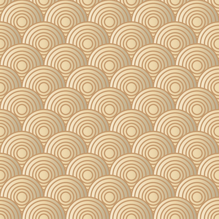 eyestrain: Overlap Gold Circle Pattern. Illustration