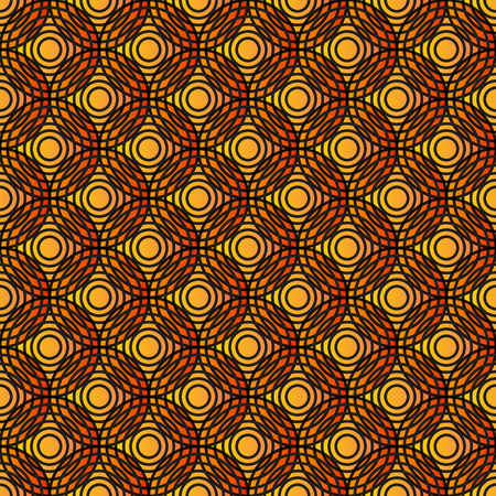 eyestrain: Overlap Circle Pattern. Editable Vector. Illustration
