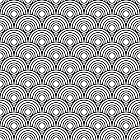 psychic: Overlap Circle Pattern. Editable Vector. Illustration