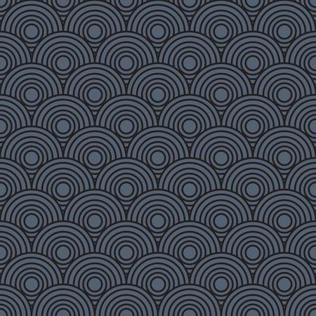 Overlap Circle Pattern. Editable Vector. Illustration