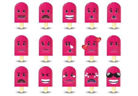 sad men: Set of  cartoon Icons: different emotions Illustration