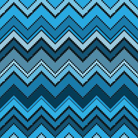 Thai pixel textile texture pattern. Illustration