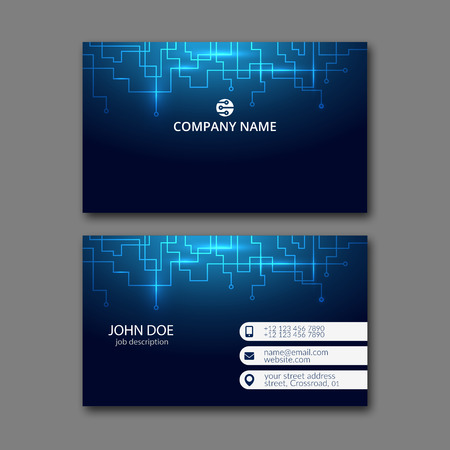 Elegante Visitenkarte Design-Vorlage für kreative Gestaltung. Standard-Bild - 67780553