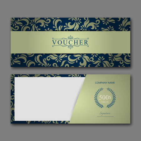 elegant template: Elegant gift voucher template for creative design.
