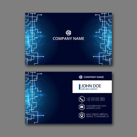 Elegant adreskaartje design template voor creatieve vormgeving. Stockfoto - 68947227