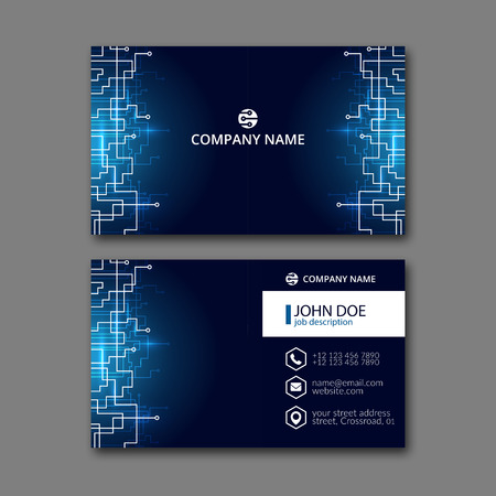 Elegant business card design template for creative design.