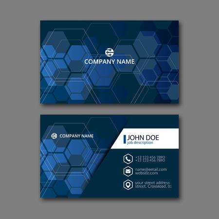 Elegante Visitenkarte Design-Vorlage für kreative Gestaltung.